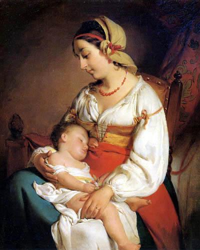 Friedrich von Amerling - Mutterliebe