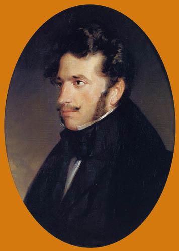 Friedrich von Amerling - Porträt des Malers Friedrich Gauermann