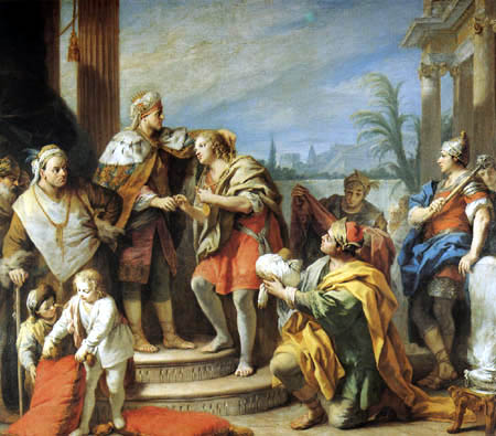 Jacopo (Giacomo) Amigoni - Joseph in the palace of Pharaoh