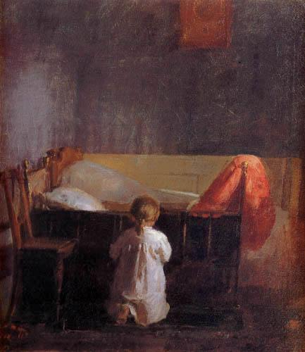 Anna Ancher - Evening prayer