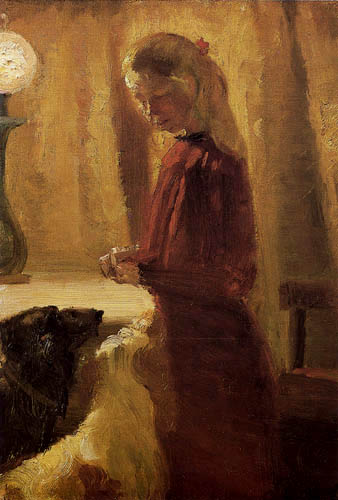 Anna Ancher - Food for the dogs