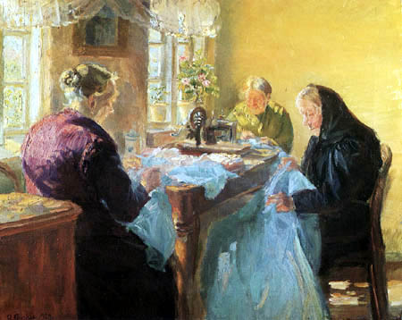 Anna Ancher - A blue dress for the fancy-dress ball
