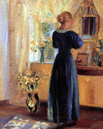 Anna Ancher - Junge Frau vor dem Spiegel