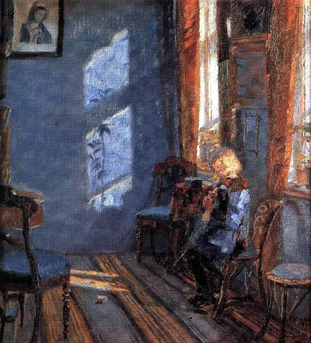 Anna Ancher - Sonnenschein im blauen Zimmer