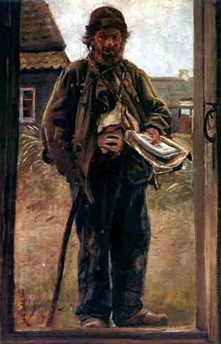 Michael Ancher - Soren Bondhagen verkauft Liedertexte