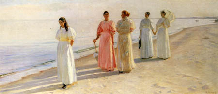 Michael Ancher - Ladys on the beach