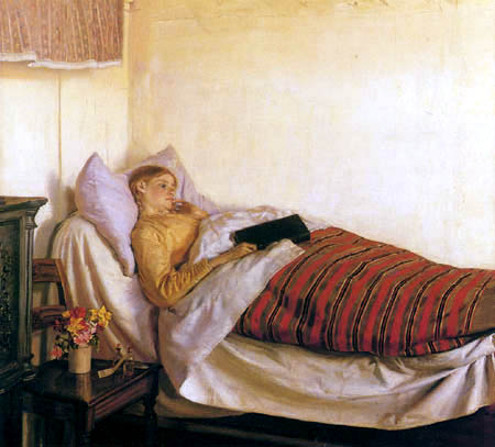 Michael Ancher - Sick Girl