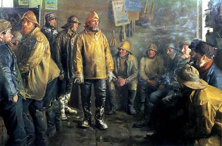 Michael Ancher - Im Laden eines Kaufmanns