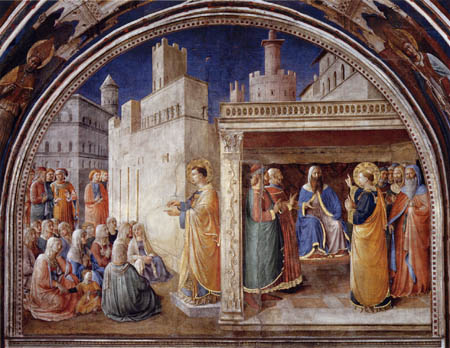 Fra Angelico (Fra Giovanni da Fiesole) - The sermon by Saint Stephen