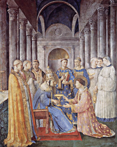 Fra Angelico (Fra Giovanni da Fiesole) - The Lustration of St. Lawrence