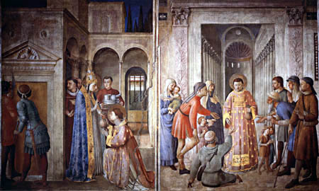 Fra Angelico (Fra Giovanni da Fiesole) - The alms of the Holy
