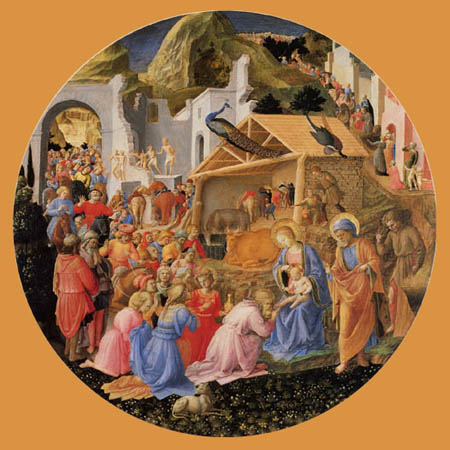 Fra Angelico (Fra Giovanni da Fiesole) - Adoration of the holy kings