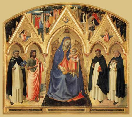 Fra Angelico (Fra Giovanni da Fiesole) - Triptychon von San Pietro Martire