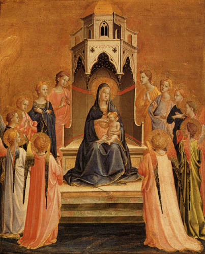 Fra Angelico (Fra Giovanni da Fiesole) - Madonna with Angels