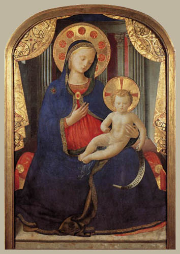Fra Angelico (Fra Giovanni da Fiesole) - Madonna with child