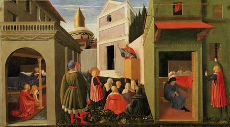 Fra Angelico (Fra Giovanni da Fiesole) - Geburt des hl. Nikolaus