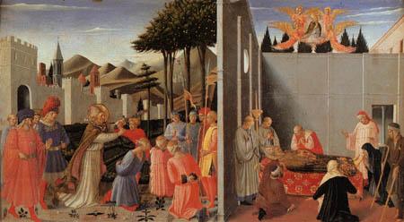 Fra Angelico (Fra Giovanni da Fiesole) - Nikolaus befreit Unschuldige