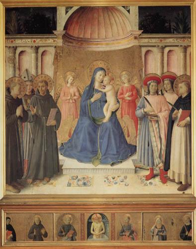 Fra Angelico (Fra Giovanni da Fiesole) - Pala von Bosco und Maria mit Kind