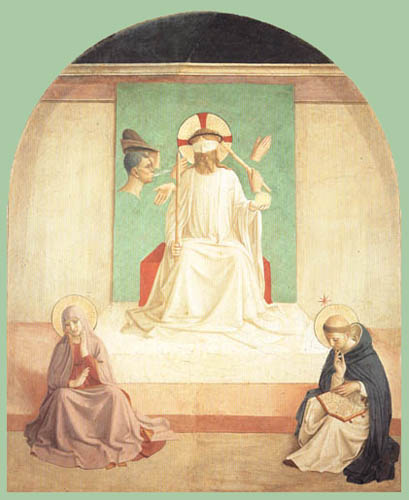 Fra Angelico (Fra Giovanni da Fiesole) - The mocking of Christ