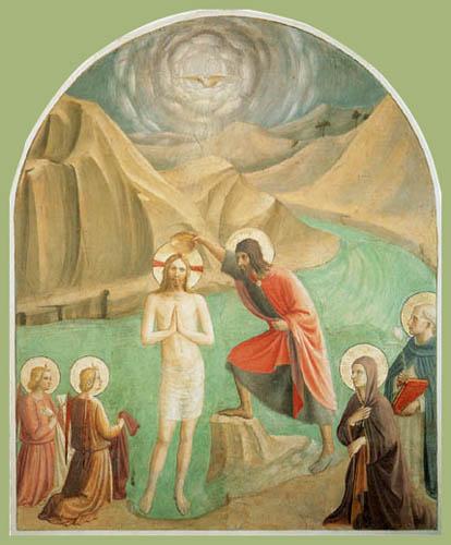 Fra Angelico (Fra Giovanni da Fiesole) - Baptism of Christ