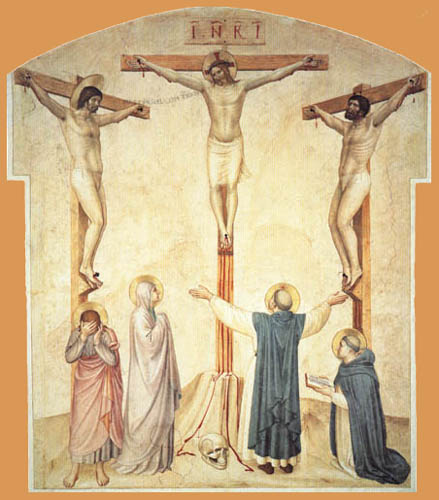 Fra Angelico (Fra Giovanni da Fiesole) - Kreuzigung mit Schächern