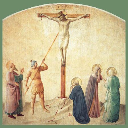 Fra Angelico (Fra Giovanni da Fiesole) - Kreuzigung mit dem Lanzenstich