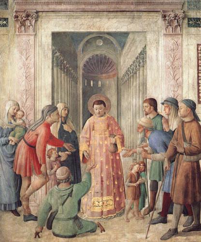 Fra Angelico (Fra Giovanni da Fiesole) - Verteilung von Almosen