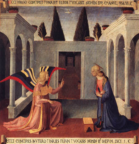 Fra Angelico (Fra Giovanni da Fiesole) - Armadio- Annunciation (detail)