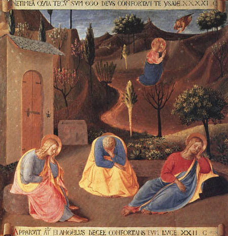 Fra Angelico (Fra Giovanni da Fiesole) - Armadio, Jesus Christ on the Mount of olive tree