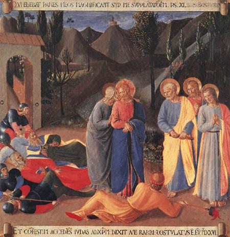 Fra Angelico (Fra Giovanni da Fiesole) - Armadio- Kiss of Judas (detail)