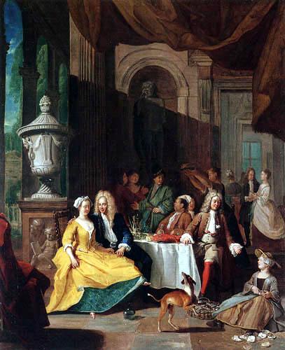 Peter Angellis - Herren bei Tisch