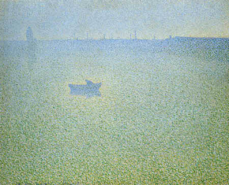 Charles Angrand - The Seine in the morning