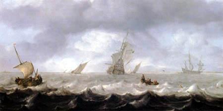 Arnoldus van Anthonissen - Fishermen in a rowboat