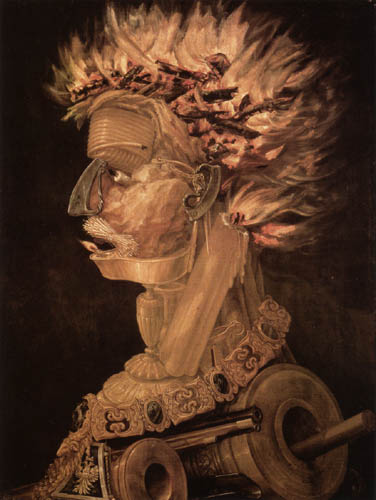 Giuseppe Arcimboldo (Arcimboldi) - The Fire