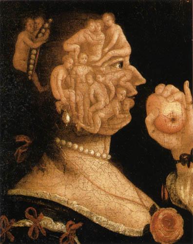 Giuseppe Arcimboldo (Arcimboldi) - Eve with apple