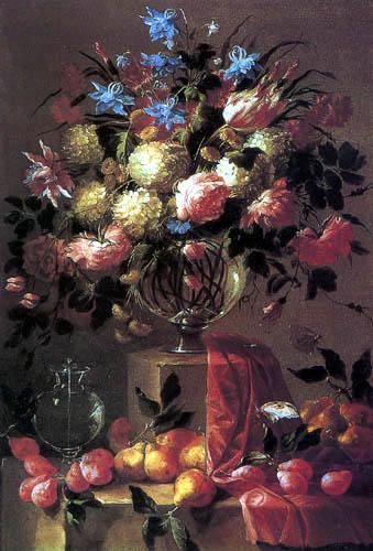 Juan de Arellano - Flower still life with fruits
