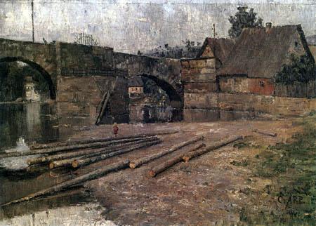 Carl Arp - The old bridge, Saalfeld