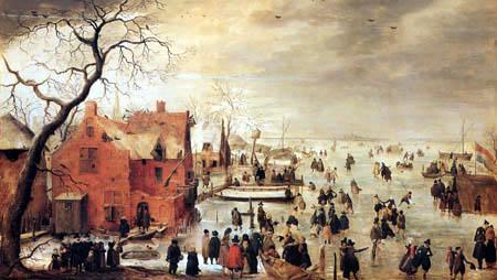 Hendrik Avercamp - Ice landscape