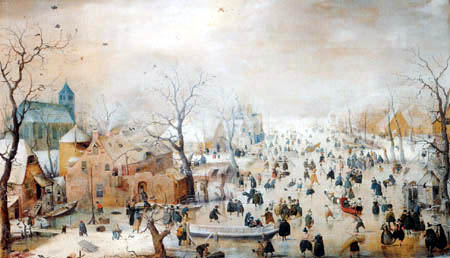 Hendrik Avercamp - A Winter Landscape