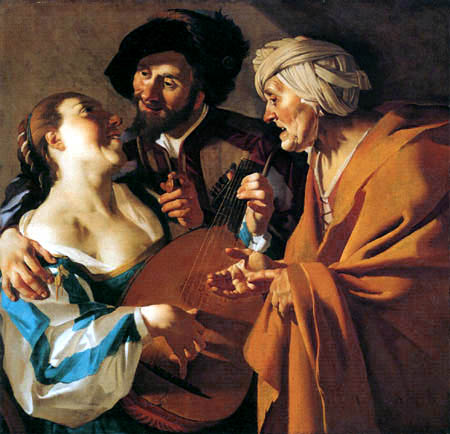 Dirck van Baburen - The procuress
