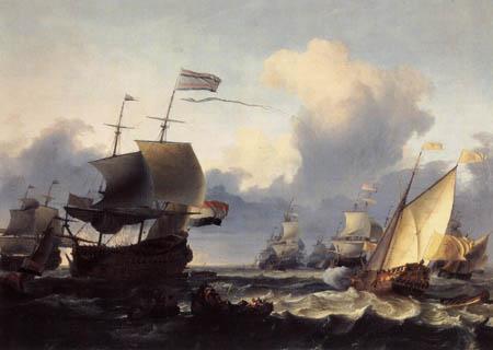 Ludolf Backhuysen (Backhuisen) - Holländische Kriegsschiffe