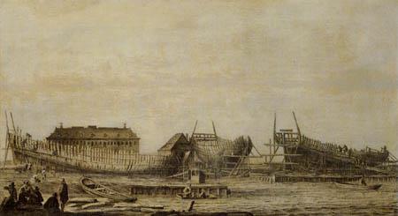 Ludolf Backhuysen (Backhuisen) - Schiffswerft Amsterdam