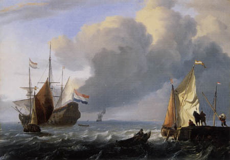 Ludolf Backhuysen (Backhuisen) - Marine