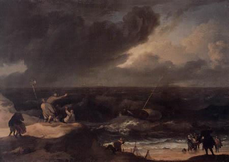Ludolf Backhuysen (Backhuisen) - Seascape