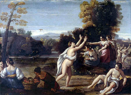 Sisto Badalocchio - Diana and Her Nymphs Catching Birds