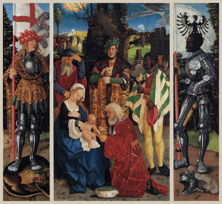 Hans Baldung, called Grien - Three-king altar