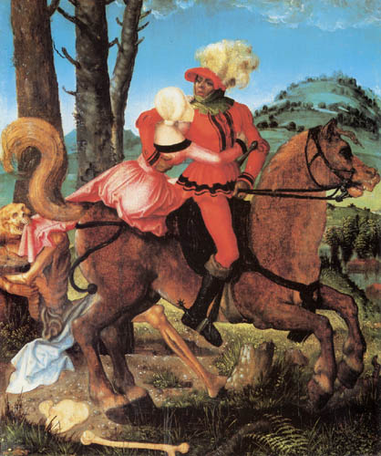 Hans Baldung, called Grien - Knight, Girl and Death