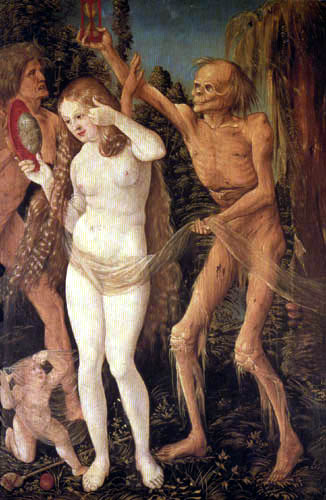 Hans Baldung, called Grien - The three ages and death