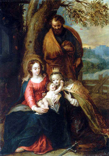 Hendrik van Balen, The Elder - The Holy Family
