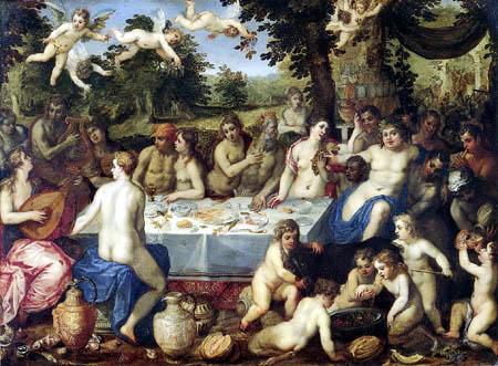 Hendrik van Balen, The Elder - Gods Dinner